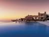 Sonnenuntergang am Pool - Hotel Caruso - Oravello (Italien)
