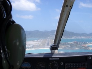 Landeanflug St. Maarten Airport