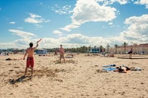 Baden am Strand in Valencia: Playa de la Malvarrosa
