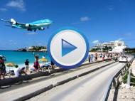 St. Maarten Airport – Gefährlichster Flughafen der Welt? (Video)